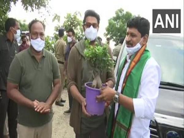 Actor Prabhas adopted 1650 acres of Khazipally reserve forest, under Green Indian Challenge program