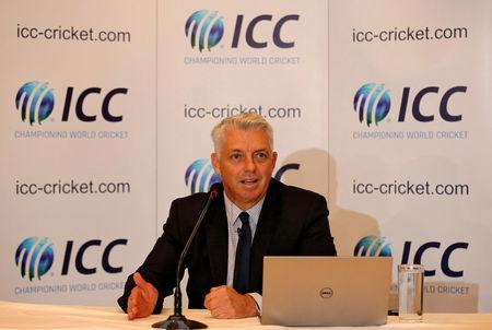 Dave Richardson, chief executive of International Cricket Council (ICC), speaks during a news conference in Kolkata, India, April 26, 2018. REUTERS/Rupak De Chowdhuri