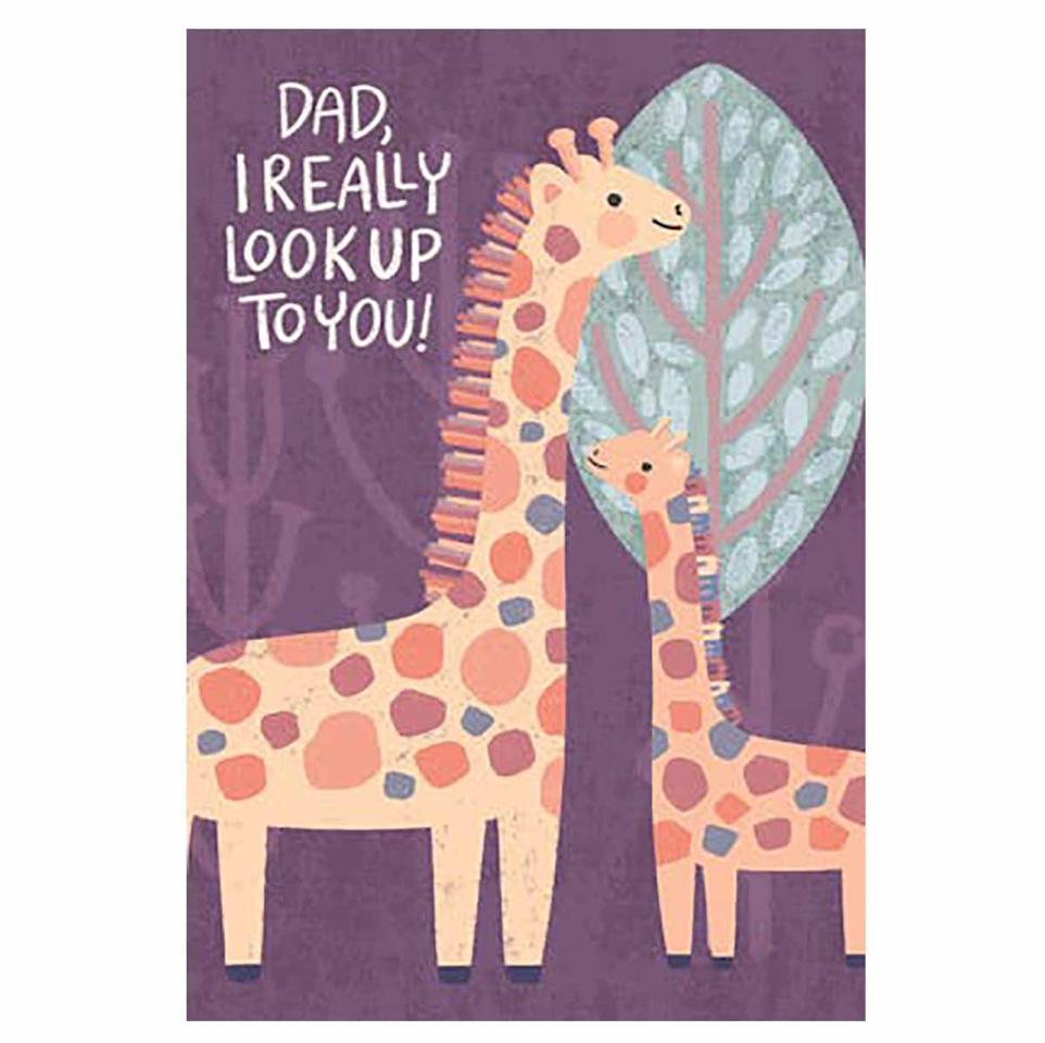 "<p>This adorable giraffe card is available as a printable or to be sent as an e-card.</p><p><em>Get the printable from <a href=""https://www.greetingsisland.com/preview/cards/giraffe-fathers-day/94-18114"" target=""_blank"">Greetings Island</a>.</em></p>"
