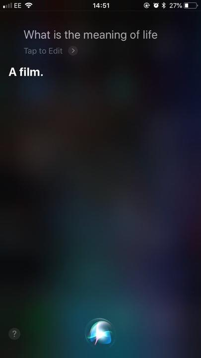 funny questions to ask siri meaning life 1