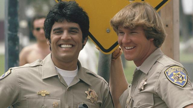 Erik Estrada and Larry Wilcox in 'CHiPs' (Photo Credit: Photofest)