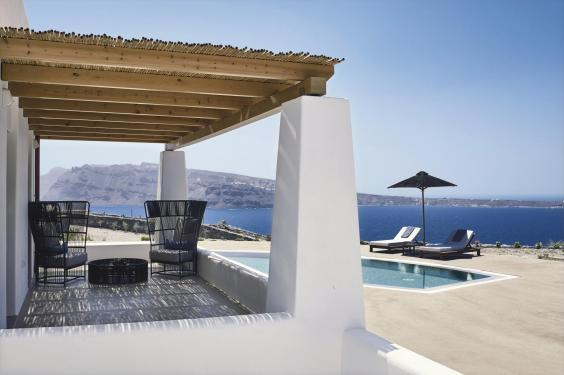 One of the luxury sunset villas with private pool (Santo Maris)