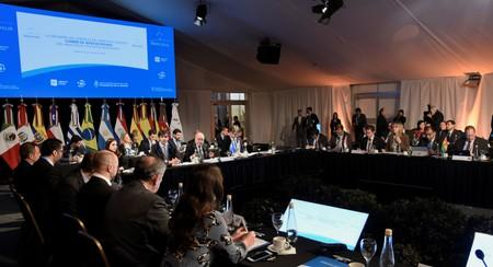 Argentina's Foreign Minister Jorge Faurie speaks at the opening of the 54th Summit of Heads of State of Mercosur and Associated States, in Santa Fe