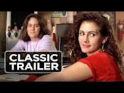 """<p>A landmark film because it was both Julia Roberts and Matt Damon's first foray into movies (though blink and you'll miss Damon).</p><p>The 21-year-old actress made a name for herself as the big-haired, sarcastic, sweary, independent Daisy who challenges outdated attitudes (even for 1988).</p><p>Following three friends over a summer, experiencing life-affirming relationships at the same time, the film is female at its core (the three women driving while singing Aretha Franklin's 'Respect' at the top of their lungs is a highlight) and explores sex, love, heartbreak, class and identity through their lenses.</p><p>It'll also leave you craving pizza...<br></p><p><a href=""""https://www.youtube.com/watch?v=muLvjpHGHig"""" rel=""""nofollow noopener"""" target=""""_blank"""" data-ylk=""""slk:See the original post on Youtube"""" class=""""link rapid-noclick-resp"""">See the original post on Youtube</a></p>"""