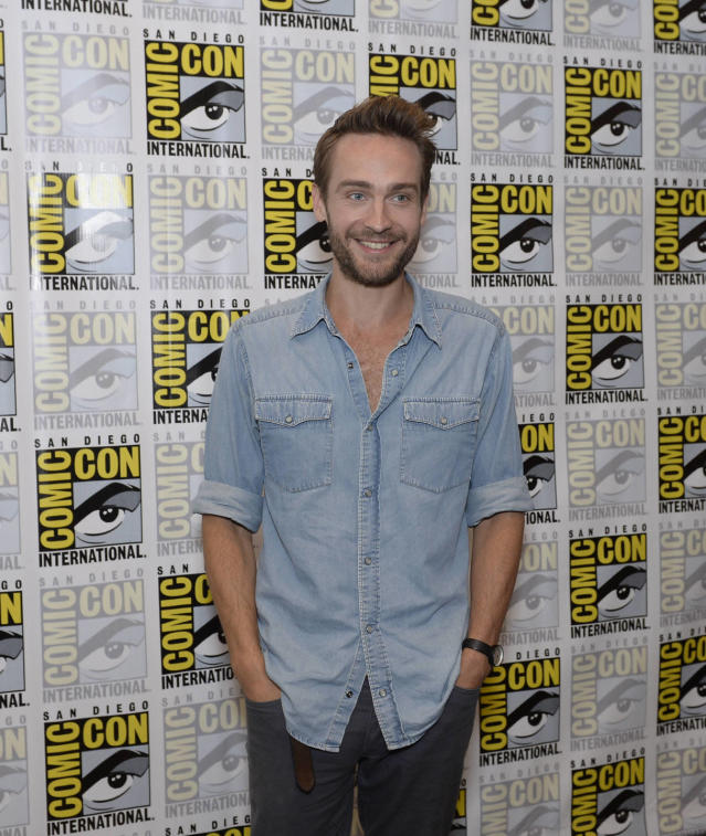 """Sleepy Hollow"" star Tom Mison on Friday, July 19 at the Fox Fanfare At San Diego Comic-Con 2013."