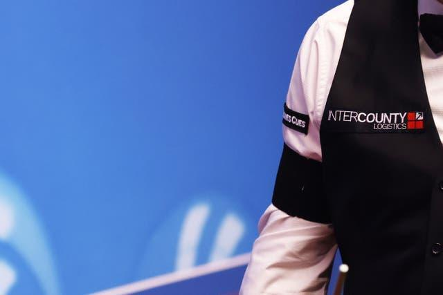 Mark Joyce wore a black armband during the World Snooker Championships