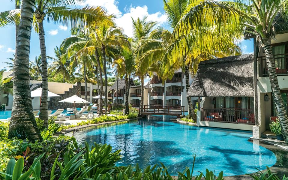 The pool at Constance Belle Mare Place in Mauritius