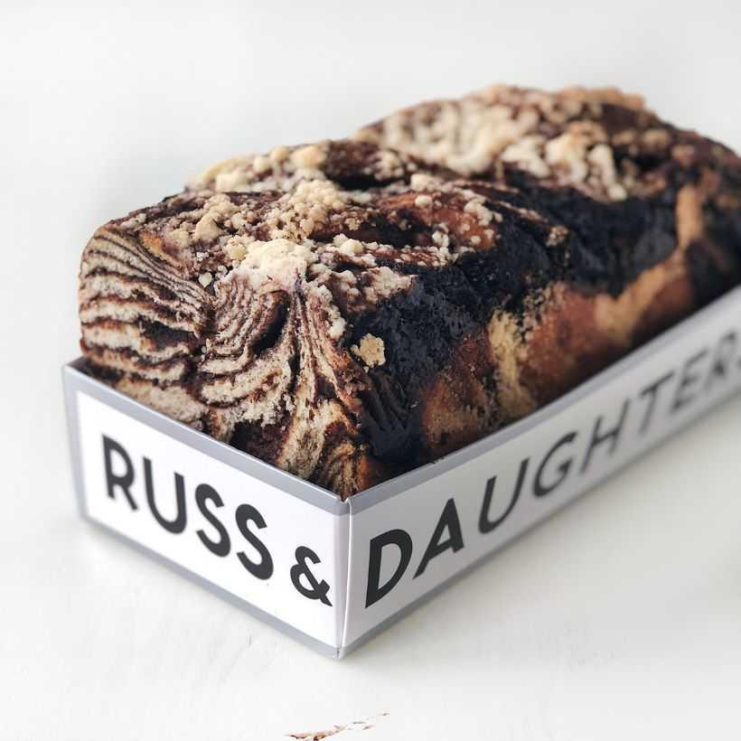 "<strong><h3><a href=""https://russanddaughters.goldbelly.com/"" rel=""nofollow noopener"" target=""_blank"" data-ylk=""slk:Russ & Daughters"" class=""link rapid-noclick-resp"">Russ & Daughters</a></h3></strong><br>Located in New York's historic Lower East Side for over 100 years, Russ & Daughters is an institution beloved for its appetizing bagel spread, a good schmear, and <a href=""https://russanddaughters.goldbelly.com/18836-chocolate-babka"" rel=""nofollow noopener"" target=""_blank"" data-ylk=""slk:babka"" class=""link rapid-noclick-resp"">babka</a>. The sweet yeasted cake is perfect for breakfast — or anytime."