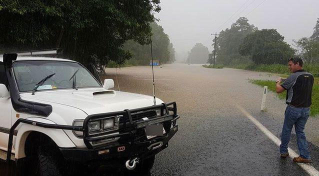 Bystanders told Sam Greenwood they saw the windscreen wipers operating on the car. Photo: Facebook/ Sam Greenwood