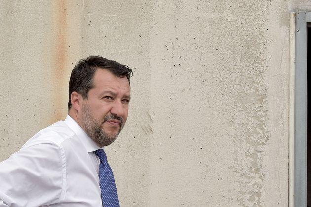 ROME, ITALY - SEPTEMBER 10: Lega leader Matteo Salvini visited the suburban district of Tor Bella Monaca to listen to the requests and complaints of some of the residents of the social housing managed by the municipality of Rome in Via Amico Aspertini, which are in a state of disrepair, on September 10, 2021 in Rome, Italy. The Tor Bella Monaca neighbourhood, located in the south-eastern outskirts of the capital, is considered one of the most degraded, abandoned and crime-ridden areas in Rome (Photo by Simona Granati - Corbis/Corbis via Getty Images) (Photo: Simona Granati - Corbis via Getty Images)