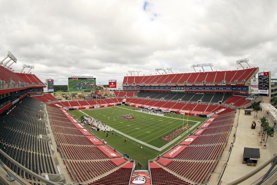 The teams headed to the Super Bowl won't be able to arrive in Tampa until two days before the big game — but only if they need to travel. If the Buccaneers win on Sunday, they won't have to go anywhere. (Photo by Mike Ehrmann/Getty Images)