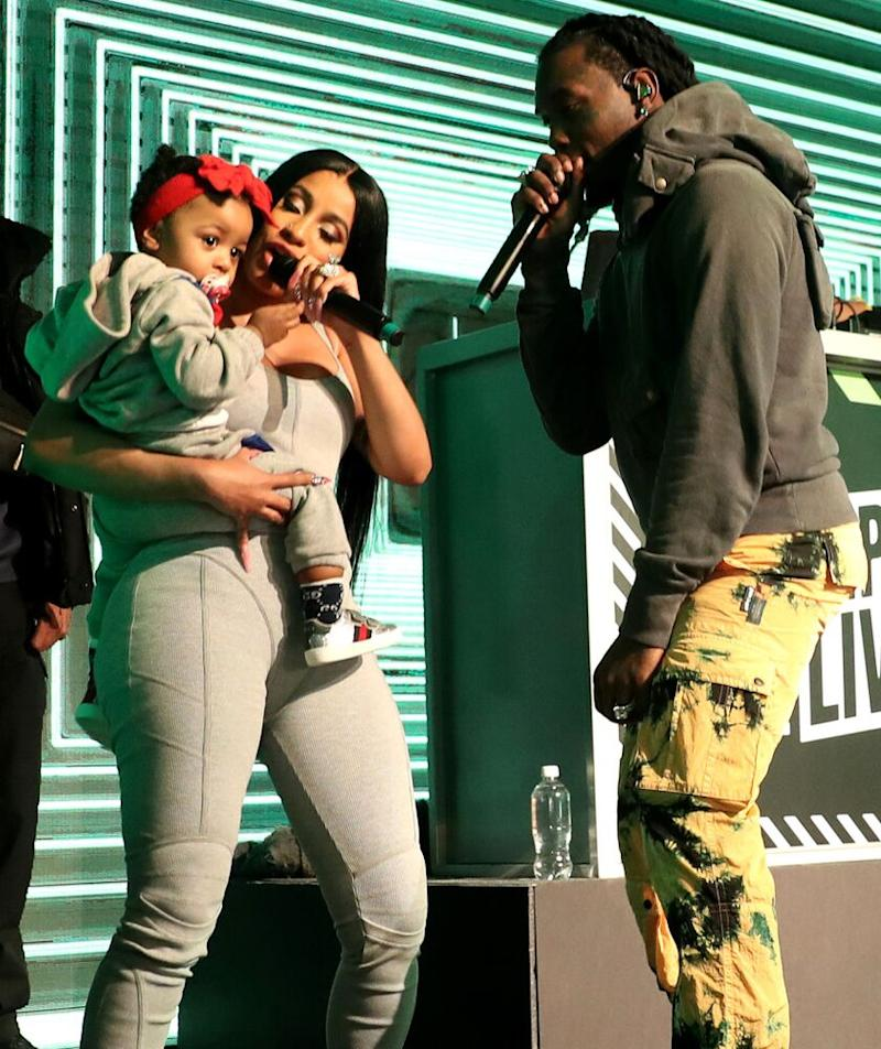 Cardi B with baby Kulture and Offset | Johnny Nunez/WireImage