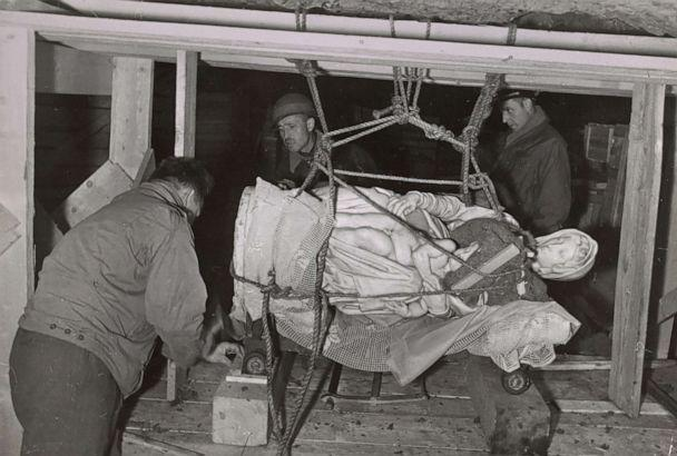 PHOTO: Monuments Men rescue Michelangelo's Madonna and Child, Altaussee, Germany, 1945. (Thomas Carr Howe papers, Archives of American Art, Smithsonian Institution)