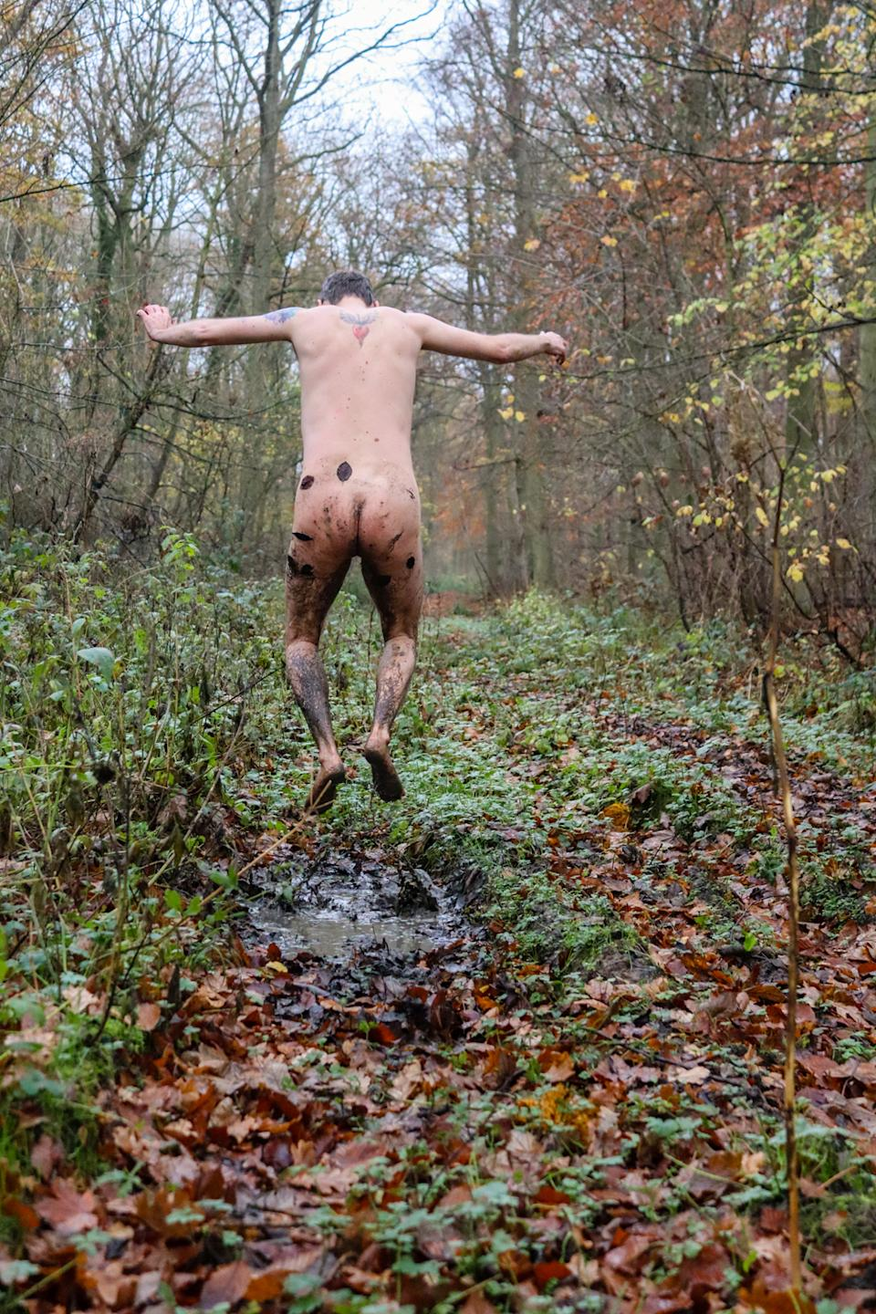 Getting naked while on a walk in the woods helped Chris Hood handle his pandemic anxiety. (PA Real Life)
