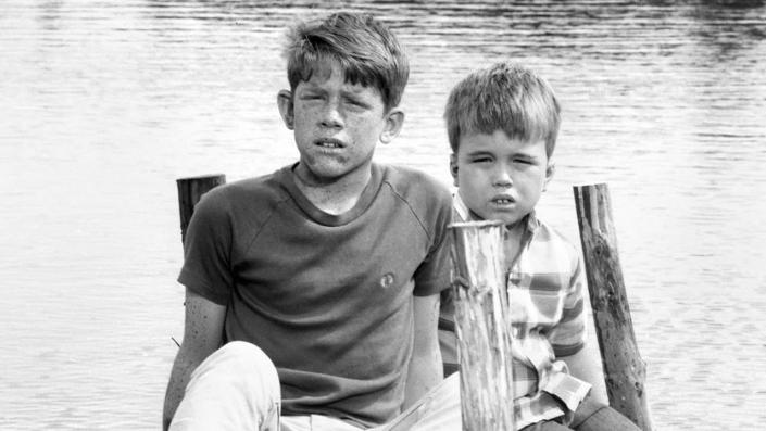 """From left is Ron Howard (as Jerry) and Clint Howard (as Mark Wedlow) on the set of the CBS show 'Gentle Ben' on April 22, 1968. (Photo by CBS via Getty Images) <span class=""""copyright"""">Photo by CBS via Getty Images</span>"""