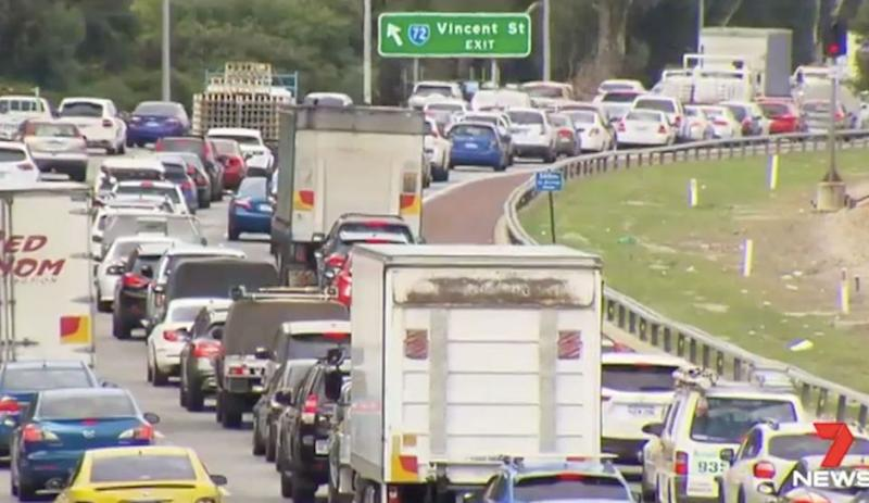 By 2031 it's estimated seven out of 10 most congested roads in the country will be in Perth. Photo: 7 News