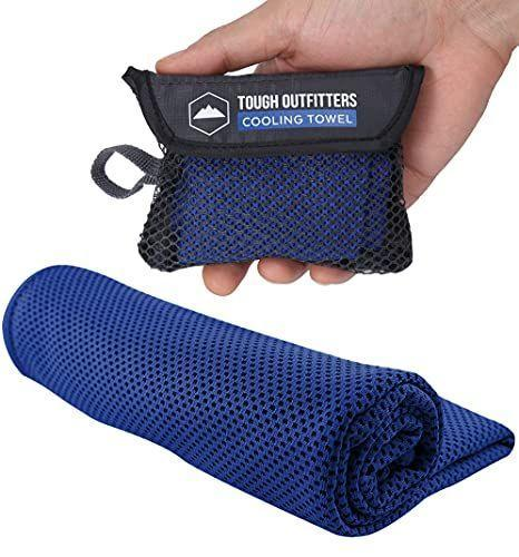 """<p><strong>Tough Outdoors</strong></p><p>amazon.com</p><p><strong>$6.95</strong></p><p><a href=""""https://www.amazon.com/dp/B072HH1145?tag=syn-yahoo-20&ascsubtag=%5Bartid%7C10055.g.4676%5Bsrc%7Cyahoo-us"""" rel=""""nofollow noopener"""" target=""""_blank"""" data-ylk=""""slk:Shop Now"""" class=""""link rapid-noclick-resp"""">Shop Now</a></p><p>Because he's <em>always</em> hot, even in December. All he has to do is soak the towl in cold water and wear it around his neck as he jogs, works out, etc.!</p>"""