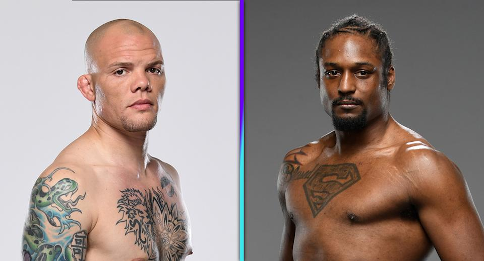 Light heavyweight contenders Anthony Smith and Ryan Spann headline Saturday's UFC Vegas 37 at Apex in Las Vegas. (Photos via Getty Images)