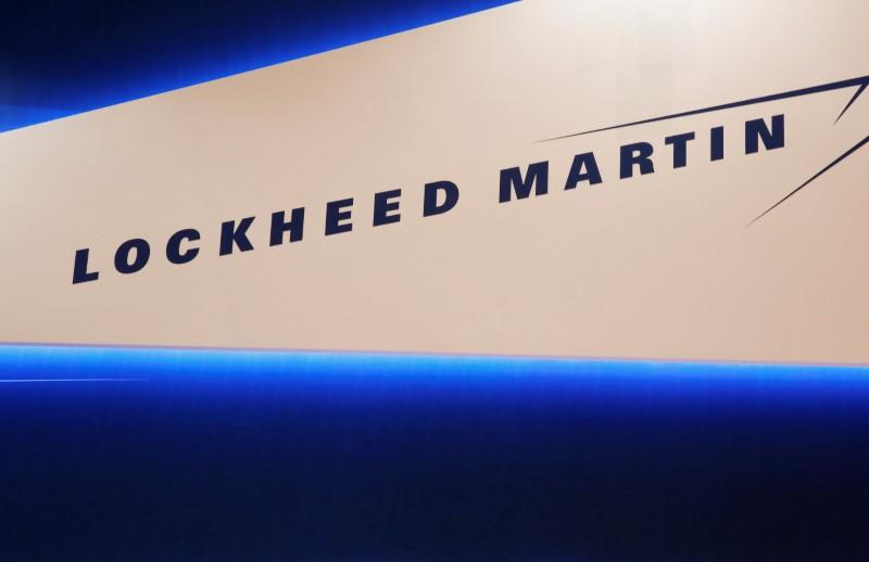 FILE PHOTO - Lockheed Martin's logo is seen during Japan Aerospace 2016 air show in Tokyo