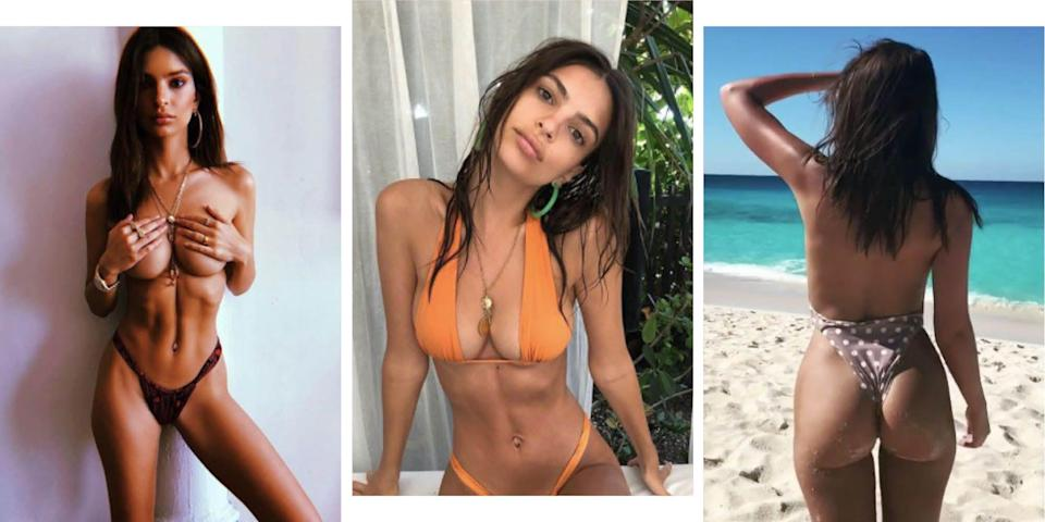 """<p>Emily Ratajkowski has previously <a href=""""http://www.gq-magazine.co.uk/article/emily-ratajkowski-topless"""" rel=""""nofollow noopener"""" target=""""_blank"""" data-ylk=""""slk:spoken"""" class=""""link rapid-noclick-resp"""">spoken</a> about how she refuses to be """"put into certain boxes"""" when it comes to the naked female body, commenting on how she is either """"sexualised"""" or perceived as """"vulgar and gross"""" for freeing the nipple. So what better way to shut down the haters than with 129 empowering (and beaut) naked Instagram photos? Her body, her choice. </p>"""