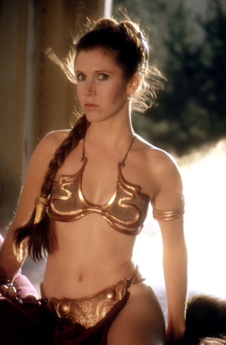 <p>Cates' red suit wasn't the only one influencing swimwear around that time. The following year, Princess Leia's sexy gold number, though not actually a swimsuit, inspired many a bikini style.</p>