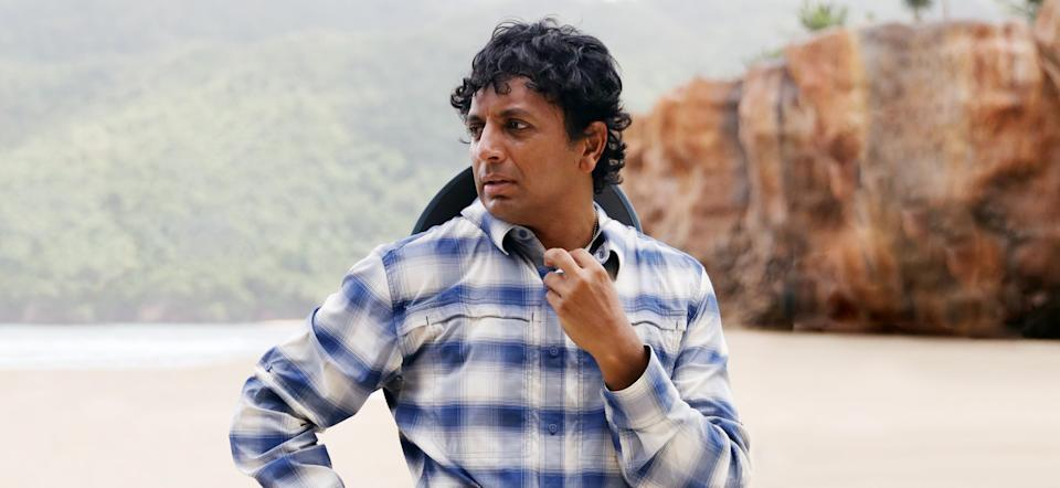 Director M. Night Shyamalan on the set of 'Old' (Photo: Universal Pictures/Courtesy Everett Collection)