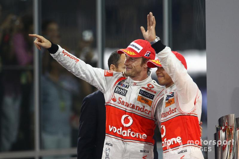 "Jenson Button, Lewis Hamilton, McLaren MP4-25<span class=""copyright"">LAT Images</span>"