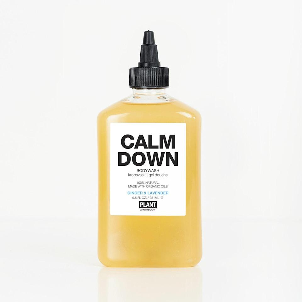 """We could all use something to help us calm down right about now — your dad, too. <br> <br> <strong>Plant Apothecary</strong> Calm Down Organic Body Wash, $, available at <a href=""""https://go.skimresources.com/?id=30283X879131&url=https%3A%2F%2Fplantapothecary.com%2Fcollections%2Fall%2Fproducts%2Fcalm-down-organic-bodywash"""" rel=""""nofollow noopener"""" target=""""_blank"""" data-ylk=""""slk:Plant Apothecary"""" class=""""link rapid-noclick-resp"""">Plant Apothecary</a>"""