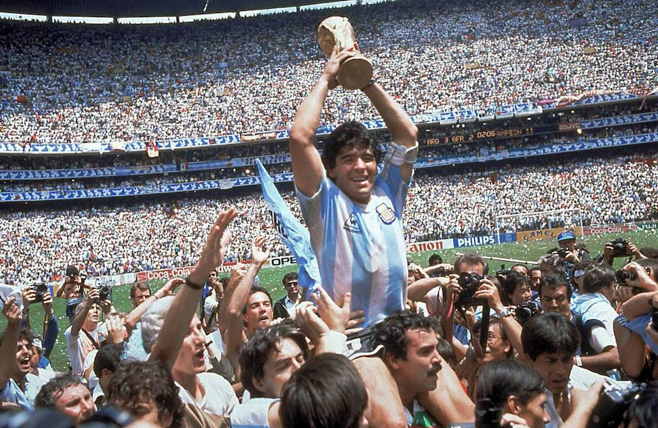 Diego Maradona led Argentina to World Cup glory in 1986AP