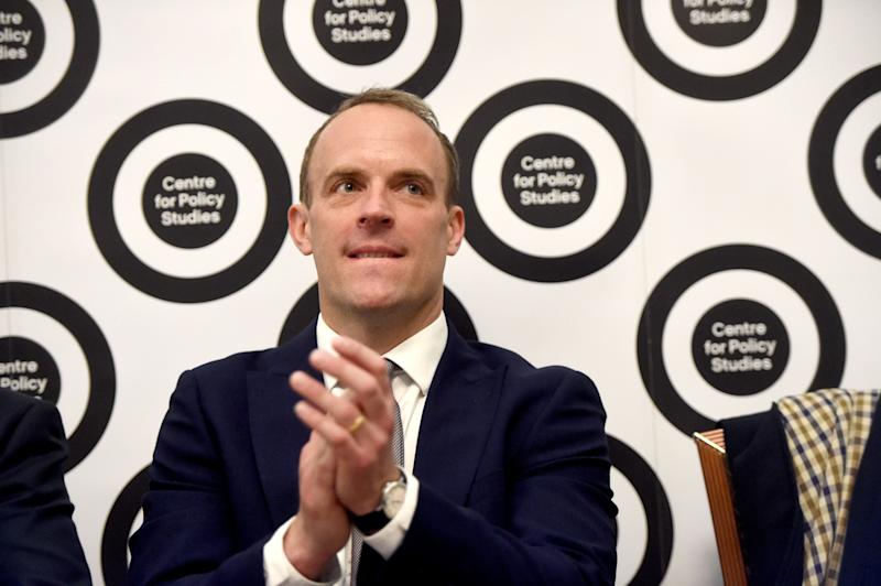Conservative leadership hopeful Dominic Raab at the launch of the Centre for Policy Studies essay collection on Britain Beyond Brexit, in central London.