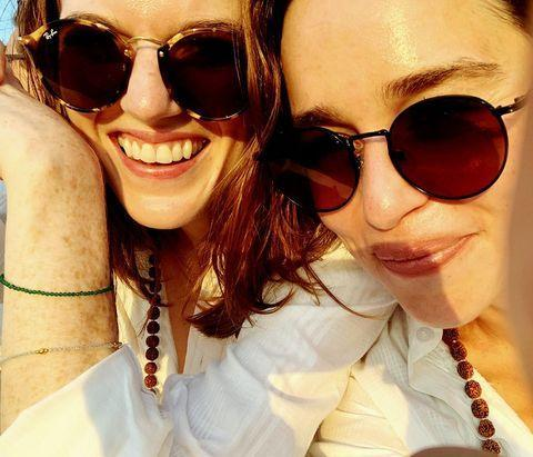 """<p>Leslie, who played Ygritte in the series, and Clarke holidayed to India together in August with Clarke, aka Khaleesi, revealing the friends read a lot, ate some spice, did some yoga and were 'robbed blind by monkeys'. Sounds like a great trip to us!</p><p><a href=""""https://www.instagram.com/p/B1xuR7hFNQz/"""" rel=""""nofollow noopener"""" target=""""_blank"""" data-ylk=""""slk:See the original post on Instagram"""" class=""""link rapid-noclick-resp"""">See the original post on Instagram</a></p>"""