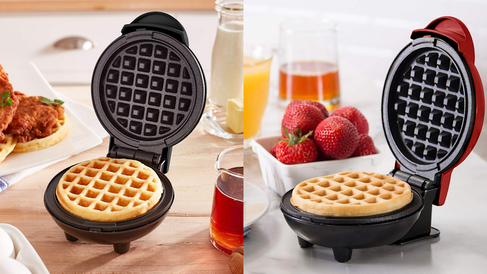 Beef up your breakfast with this mini waffle maker for less than $10 at Kohl's.