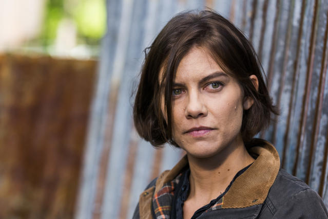 <p>Lauren Cohan as Maggie Greene in AMC's <i>The Walking Dead</i>.<br>(Photo: Gene Page/AMC) </p>