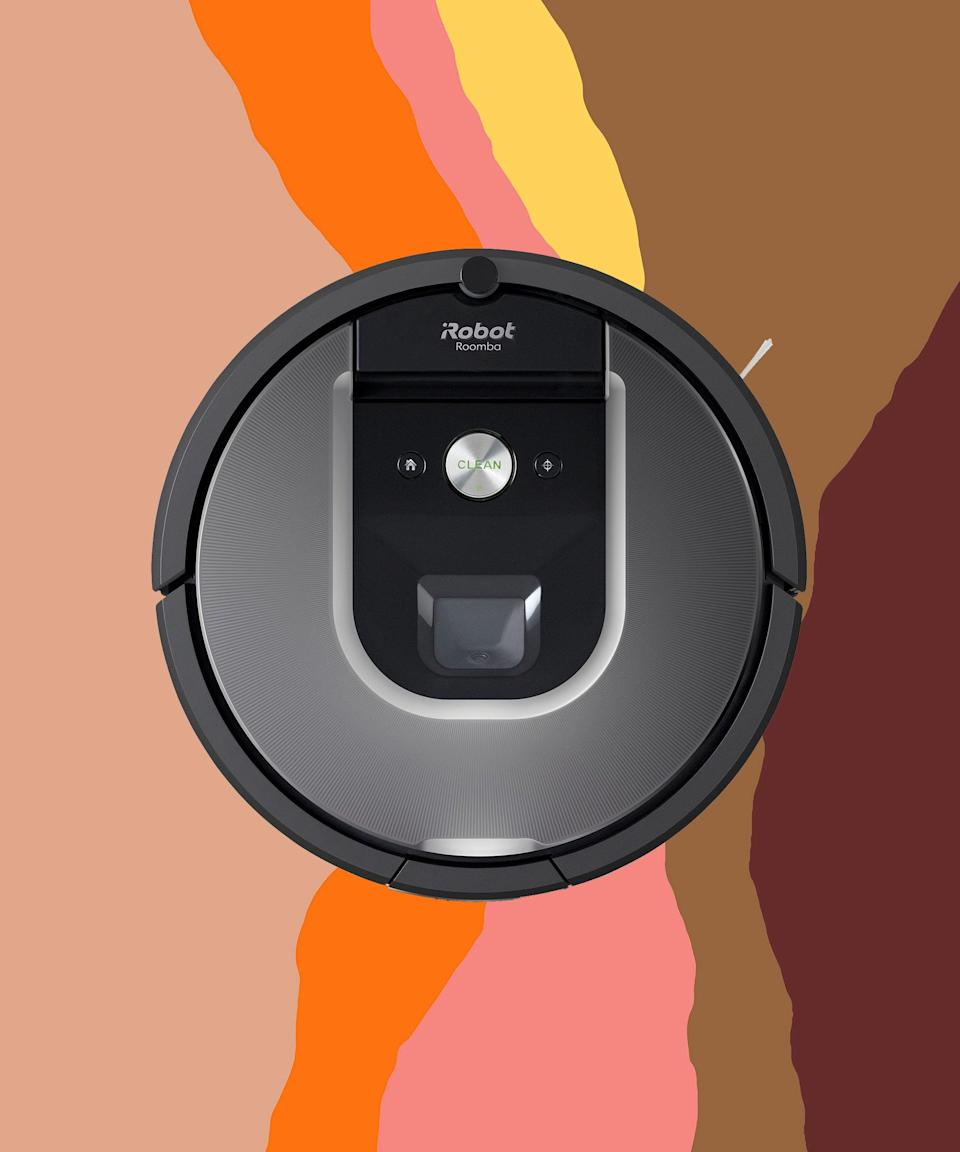 "<br><br><strong>iRobot</strong> Roomba 980 Vacuum Cleaning Robot, $, available at <a href=""https://go.skimresources.com/?id=30283X879131&url=https%3A%2F%2Fwww.ebay.com%2Fitm%2FiRobot-Roomba-980-Vacuum-Cleaning-Robot-Manufacturer-Certified-Refurbished%2F383753671453"" rel=""nofollow noopener"" target=""_blank"" data-ylk=""slk:eBay"" class=""link rapid-noclick-resp"">eBay</a>"