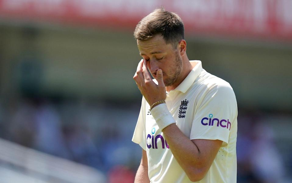 Ollie Robinson has been suspended from international cricket over tweets he posted when he was a teenager - PA/Adam Davy