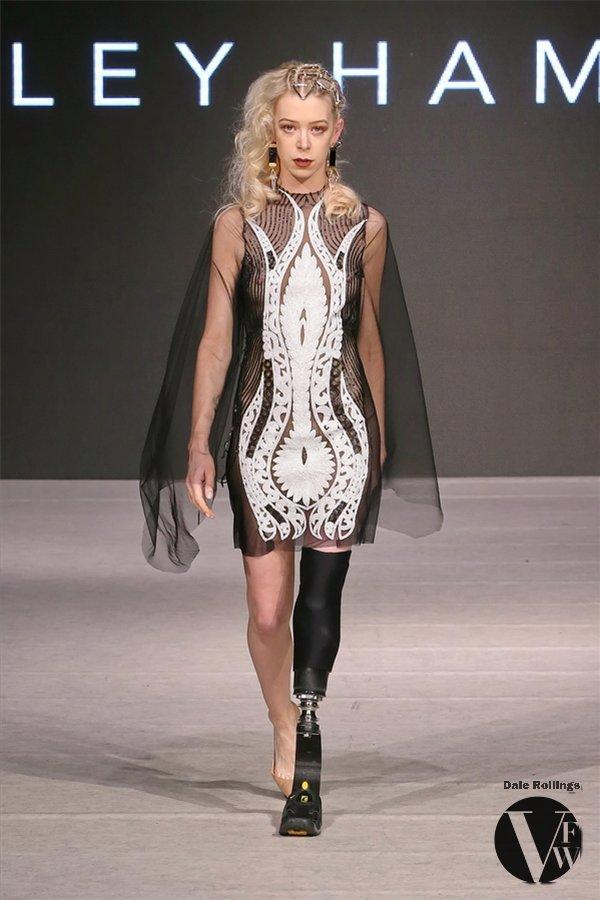 Adrianne slays the catwalk at Vancouver Fashion Week