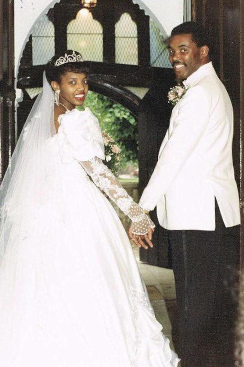 Mr Goode and his wife on their wedding day