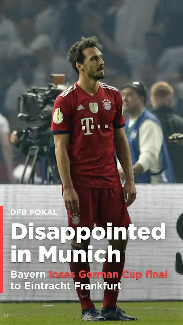 Bayern Munich's 2017-18 season ended in dramatic, controversial and disappointing fashion on Saturday – with only one trophy after a 3-1 DFB Pokal final loss to Eintracht Frankfurt.
