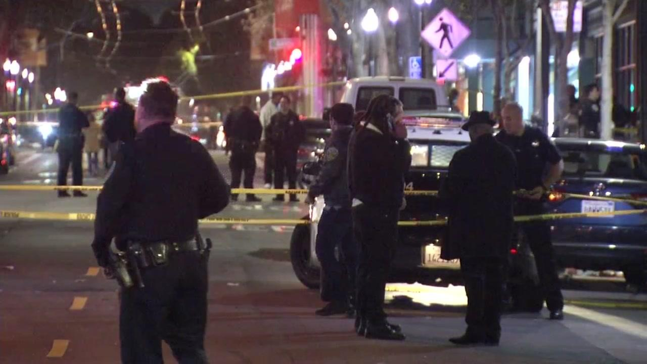 One person has died and five others were injured, one critically, in a shooting Saturday night in the Fillmore neighborhood of San Francisco, police said.