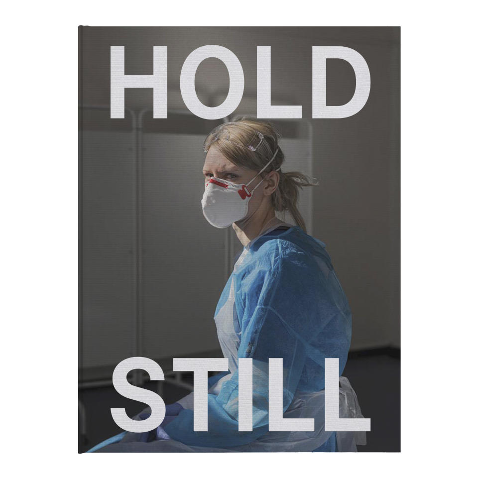 The front cover of the Hold Still book. (The National Portrait Gallery)