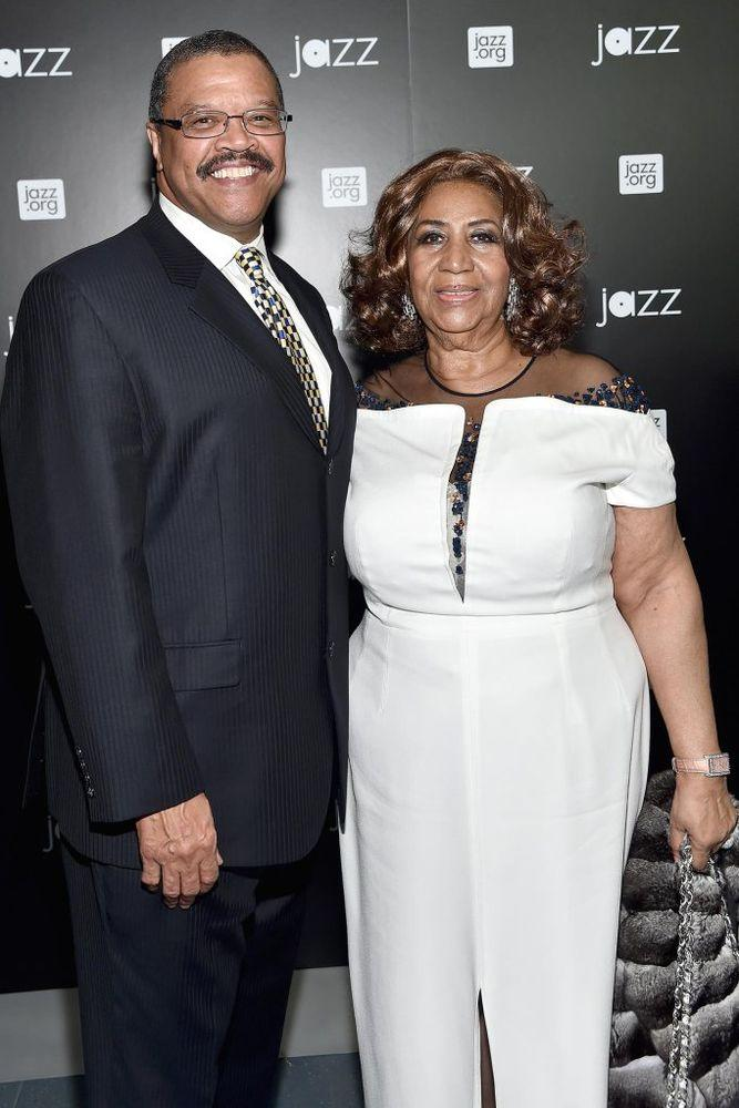 Willie Wilkerson and Aretha Franklin in 2015
