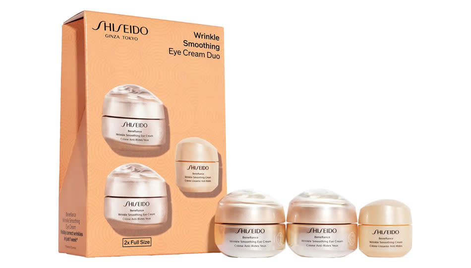Sheseido Benefiance Eye Cream Set is a strong defense against aging eyes. (Photo: Nordstrom)