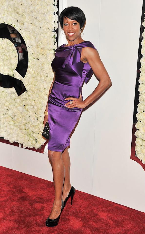 """BEVERLY HILLS, CA - FEBRUARY 23:  Regina King attends the QVC's""""Buzz On The Red Carpet"""" Cocktail Party at Four Seasons Hotel Los Angeles at Beverly Hills on February 23, 2012 in Beverly Hills, California.  (Photo by George Pimentel/WireImage)"""