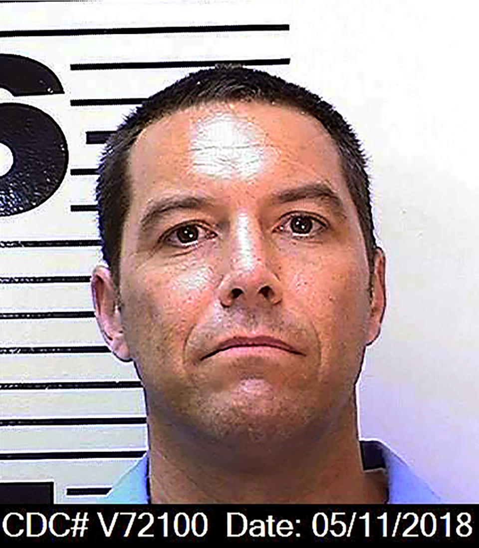 FILE - This May 11, 2018, file photo, provided by the California Department of Corrections and Rehabilitation shows Scott Peterson. California prosecutors said Tuesday, June 1, 2021, that they won't again seek the death penalty against Sctt Peterson in the 2002 slaying of his pregnant wife even if he is granted a new trial based on juror misconduct. (California Department of Corrections and Rehabilitation via AP, File)