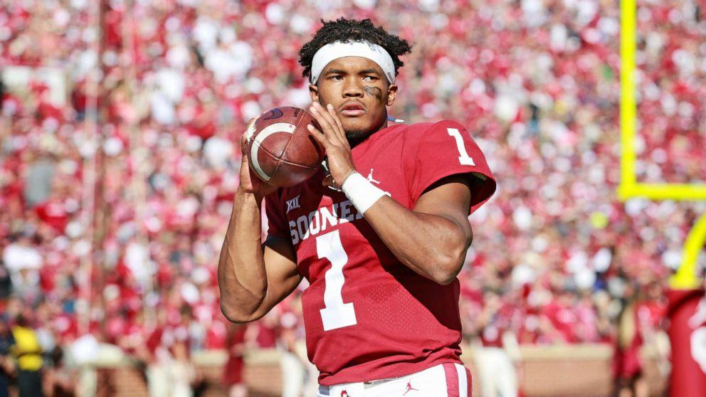 Oklahoma quarterback Kyler Murray selected with the first pick in the 2019 NFL Draft (ABC News)