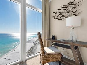 More and more people are discovering that they can work from home at the beach in Destin, Florida, and enjoy scenic views, sunset happy hours, and relaxing setting in which to work.