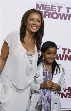 "Actress Vanessa L. Williams and daughter Sasha arrive at the premiere of ""Tyler Perry's Meet The Browns"" in Hollywood, March 13, 2008."