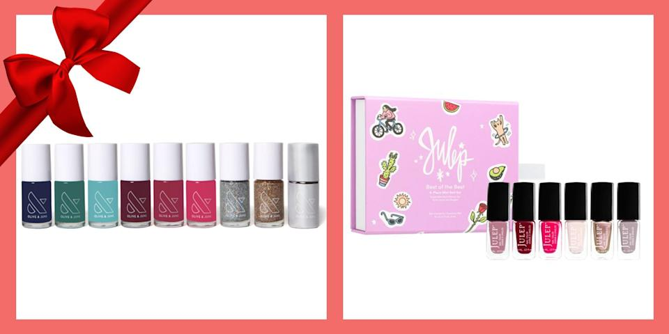 """<p>Painting your nails can be a calming process. There's just something so mesmerizing about the repetitive flick of the nail polish brush, coating each nail in your favorite hue. This holiday season, give the gift of lacquered nails by purchasing a nail polish gift set for the people on your list.</p><p>If you've got a friend who always seems to have their nails perfectly done or know someone who can never find time to make it to the nail salon, we've got <a href=""""https://www.prevention.com/life/g23120327/unique-gifts-for-mom-who-has-everything/"""" rel=""""nofollow noopener"""" target=""""_blank"""" data-ylk=""""slk:some great gift ideas they can benefit from"""" class=""""link rapid-noclick-resp"""">some great gift ideas they can benefit from</a>. The chic gift sets we've found feature a variety of hues, finishes, long-lasting gel formulas, and sparkles that will take their nail polish game to a whole new level. <br><br>The best part? There are nail polish gift sets available for every type of budget. So you can go ahead and shop affordable <a href=""""https://www.prevention.com/beauty/a32227910/best-at-home-manicure-tips/"""" rel=""""nofollow noopener"""" target=""""_blank"""" data-ylk=""""slk:options for your manicure-obsessed mom"""" class=""""link rapid-noclick-resp"""">options for your manicure-obsessed mom</a>, sister, best friend, and coworkers. Whether they stick to nude polishes only, have a taste for classic reds, or even prefer a traditional French tip, there's a nail kit out there that's just waiting to get into (and onto) their hands.<br><br>Ahead, check out the most glamorous nail polish gift sets to shop—including picks from tried-and-true brands like OPI, Sally Hansen, and Essie. And be sure to get yourself a set, too. You (and your nails) deserve it!</p>"""