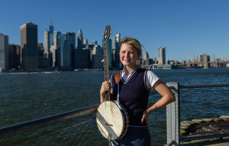 When her parents gifted Nora Brown a ukulele for Christmas at age six they never envisioned she would emerge as one of the bluegrass world's rising stars (AFP/ANGELA WEISS)