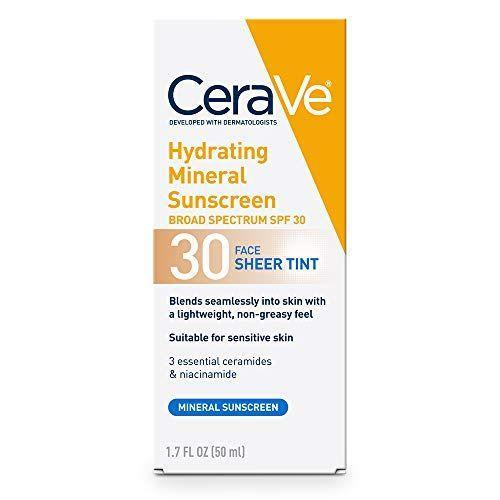 "<p><strong>CeraVe</strong></p><p>amazon.com</p><p><strong>$13.97</strong></p><p><a href=""https://www.amazon.com/dp/B07YLKXV11?tag=syn-yahoo-20&ascsubtag=%5Bartid%7C2089.g.36107013%5Bsrc%7Cyahoo-us"" rel=""nofollow noopener"" target=""_blank"" data-ylk=""slk:Shop Now"" class=""link rapid-noclick-resp"">Shop Now</a></p><p>Looking for luxury results without the luxury price tag? Then this drugstore favorite is what you're in need of. This sunscreen has a tinted formula that blends into any skin tone, and has a lightweight, non-greasy finish.</p><p>Plus, it also contains <a href=""https://www.healthline.com/health/beauty-skin-care/ceramide"" rel=""nofollow noopener"" target=""_blank"" data-ylk=""slk:ceramides"" class=""link rapid-noclick-resp"">ceramides</a> to keep your skin hydrated and glowy all day long — just remember to reapply!</p>"